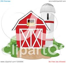 Clipart Of A Red Barn With A Hay Loft And Farm Silo With Shrubs ... Farm Animals Living In The Barnhouse Royalty Free Cliparts Stock Horse Designs Classy 60 Red Barn Silhouette Clip Art Inspiration Design Of Cute Clipart Instant Download File Digital With Clipart Suggestions For Barn On Bnyard Vector Farm Library