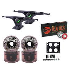 TGM Skateboards Bear Trucks Globe Wheels Bones Bearings Longboard ...