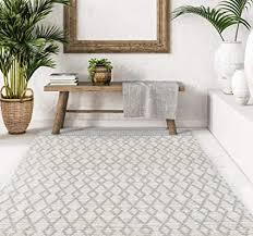 vivace carpetliving teppich bay 140 x 200 cm handgewebt grau hell modernes design wohnzimmer schlafzimmer küche hellgrau