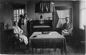 Family in living room late 1920 s My grandparents and a g…