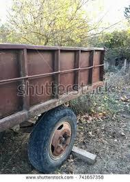 Old Rusty Farm Trailer