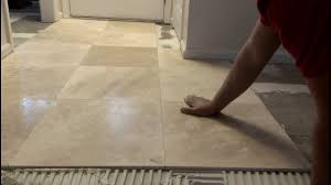 No Grout Luxury Vinyl Tile by How To Install Marble Tiles Youtube