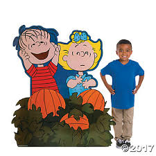 Linus Great Pumpkin Image by Peanuts Great Pumpkin Cardboard Stand Up Oriental Trading