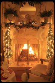 Beautiful Fireplace For Christmas