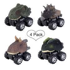100 Dinosaur Monster Truck Cars4 Pack Pull Back Vehicle Set