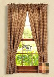 shop allen roth alison 95 in l striped green rod pocket window