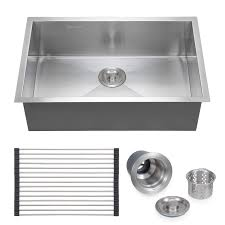 Sink Grid Stainless Steel by Commercial Stainless Steel Top Mount Kitchen Sink 18 Gauge Single