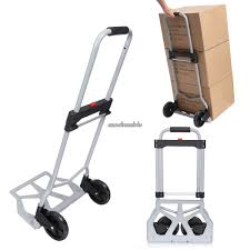 220lbs Folding Hand Truck Cart Portable Dolly Utility Cart With ... New Unused Magna Cart Mcx Personal Hand Truck Grey Must Collect 150 Lb Capacity Alinum Folding Amazoncom Ideal Steel Shop Trucks Dollies At Lowescom Uhaul Dolly Magna Cart Flatform Lowes Canada Push Collapsible Trolley Top 10 Best Reviewed In 2018 Review Sorted 300 Four Wheel
