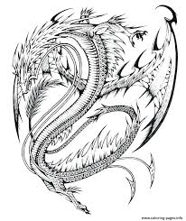 Difficult Coloring Pages For Adults Free Dragons Printable Hard Dragon Pictures Of Cute Animals Full