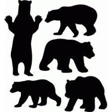 Black Bear Clipart Stencil Pattern