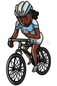 Black Woman Texting While Riding A Bike Vector Cartoon Clipart Rh Friendlystock Com Free Bicycle