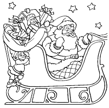 Santa Coloring Pages For Christmas Printable