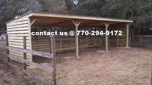 Livestock Loafing Shed Plans by My Easy Barn Horse Barn Construction Contractors In Ocala Florida