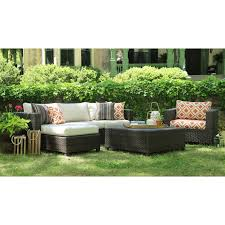 Conversation Sets Patio Furniture by Ae Outdoor Hillborough 4 Piece Sectional Conversation Set Hayneedle