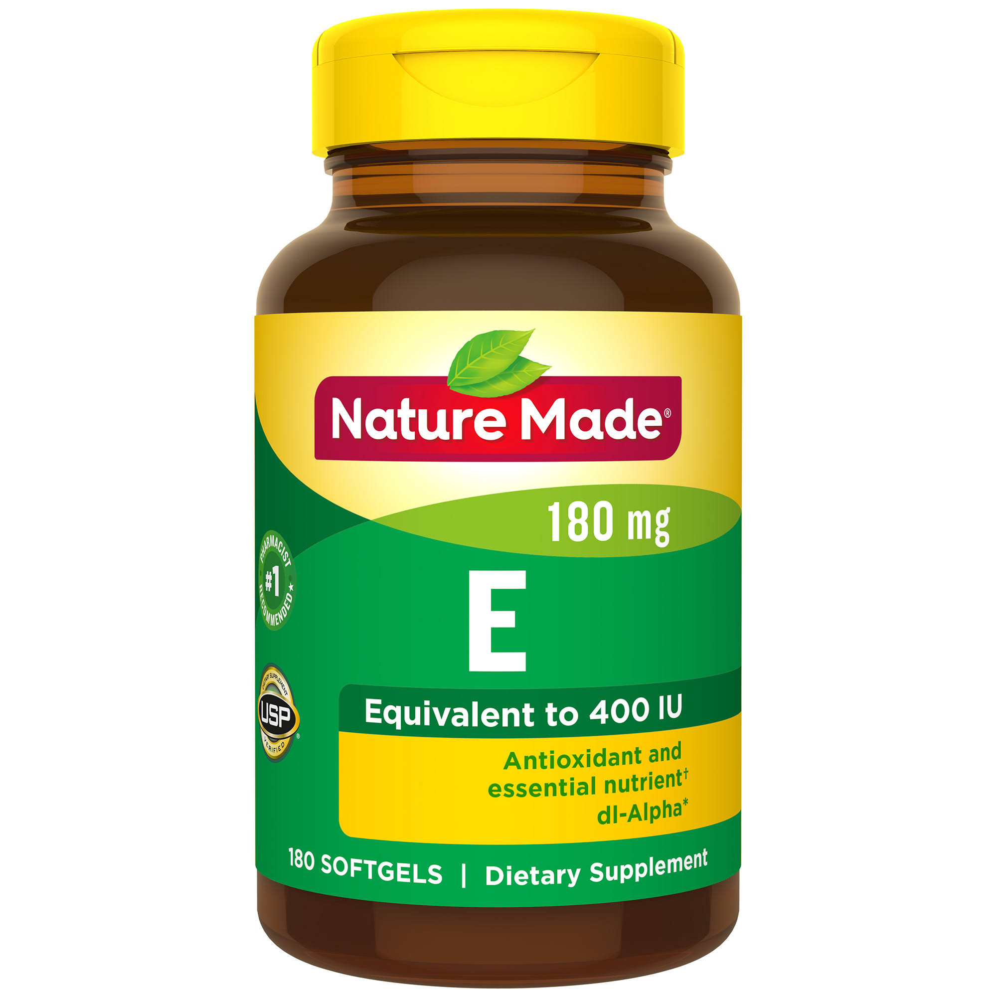 Nature Made Vitamin E Dl Alpha Dietary Supplement - 180 Softgels
