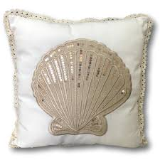 100 Sea Shell Design Pillow Cover Banberry S Nautical Beach Cushion Cover Shell With Sequins 14 34 X 14 342056