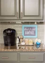View In Gallery Small Coffee Station On A Kitchen Countertop
