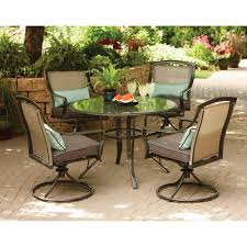 Aqua Glass 5 Piece Patio Dining Set Seats 4