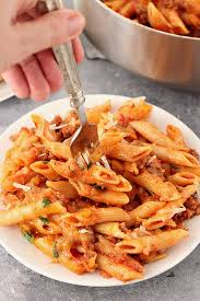 One Pot Cheesy Sausage Penne Recipe 4