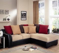 modern microfiber sectional sofa vinyl base 501895 beige dark brown