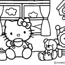 HELLO KITTY And Friends Tea Time Coloring Page