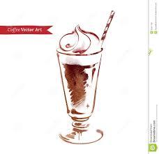 Iced Coffee Stock Vector Illustration Of Caffeine Brush