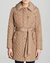 MICHAEL Michael Kors Coat Missy Quilted Belted Trench