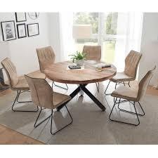runde essgruppe mit 6 stühlen atrodata 7 teilig