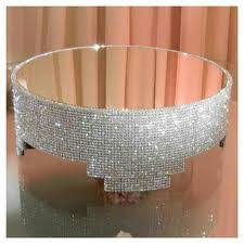 Round Bling Cake Standlocal Rental Companies May Have These In Or Square To Celebration Wedding
