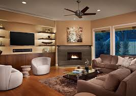 fascinating living room with corner fireplace and TV decorating