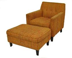 Mid Century Modern Lounge Chair & Ottoman Designed by Edward