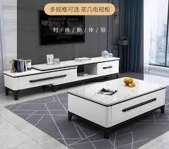 marmor tisch tv schrank kombination einfache moderne kleine familie wohnzimmer hause norden europäischen massivholz tisch set