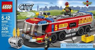 Amazon.com: City Great Vehicles LEGO 326 PCS Airport Fire Truck ...