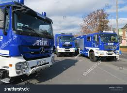 Dresden Germany 10202018 Blue Lorries Trucks Stock Photo (Edit Now ...