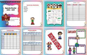 Fabulosa agenda escolar editable en WORD para el ciclo escolar
