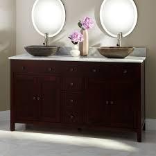 Double Bathroom Sink Menards by Bathroom Oak Double Sink Bathroom Vanities With Black Faucet And