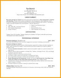 Resume Samples Simple Tableau Data Analyst Examples Career Summary Plus Alliance For Jobs Cover Letter