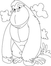 Gorilla Coloring Pages 2