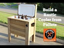 diy cooler box coolest pallet project for your backyard parties