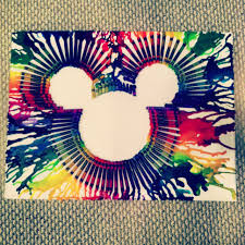 Mickey Mouse With Melted Crayons