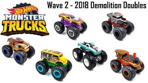 WAVE 2 HOT WHEELS MONSTER TRUCKS 2018! DEMOLITION DOUBLES - YouTube
