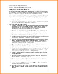 Retail Sales Associate Job Description For Resume Sample And Customer Service