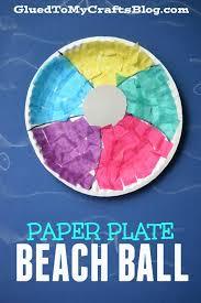 Paper Plate Beach Ball
