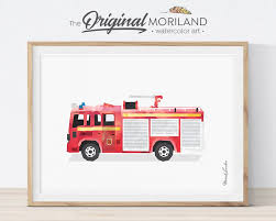 100 Fire Truck Wall Art Printable Engine Print