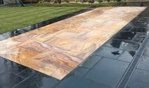 Patio Slabs by Honed Rainbow Indian Sandstone Natural Calibrated Patio Paving