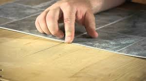 Tiling A Bathroom Floor Over Linoleum by How To Install Linoleum Square Tiles Let U0027s Talk Flooring Youtube
