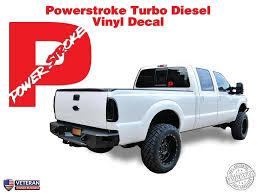 100 Diesel Truck Apparel Powerstroke Turbo Hood Window Body Vinyl Sticker Decal 5