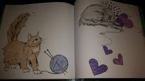 There Are So Many Fun Illustrations In This Book I Had A Hard Time Deciding What Wanted To Color Every Page Features Cats Either Snuggling Sleeping