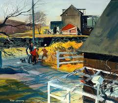 Gampfers Barn Westport 1947 art by Har Gramatky