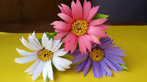 How To Make Aster Flower With Colour Paper